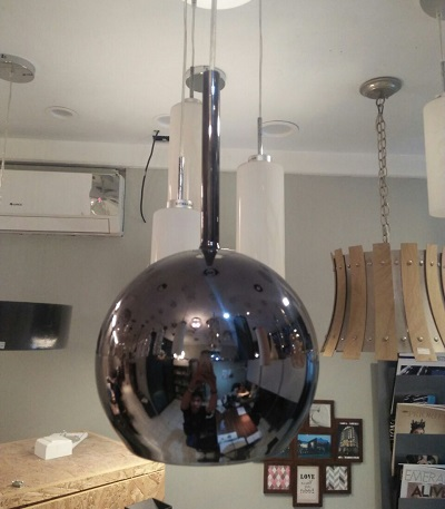 GLOBO PENDANT LAMP BLACK CHROME