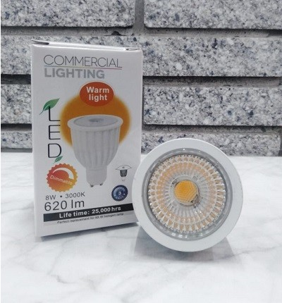 BULB GU10 8 WATT 60 DEGREE DIMMABLE 3+HLGU10083040D