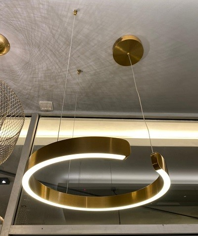 Pendant Lamp Stainless Steel Gold Diameter 40cm 3+MU7424-400-GD/CH
