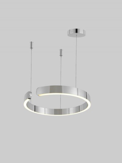 Pendant Lamp Stainless Steel Chrome Diameter 60cm 3+MU7424-600-CH