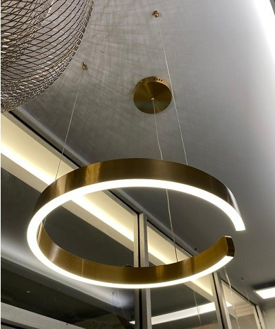 Pendant Lamp Stainless Steel Gold Diameter 60cm 3+MU7424-600-GD