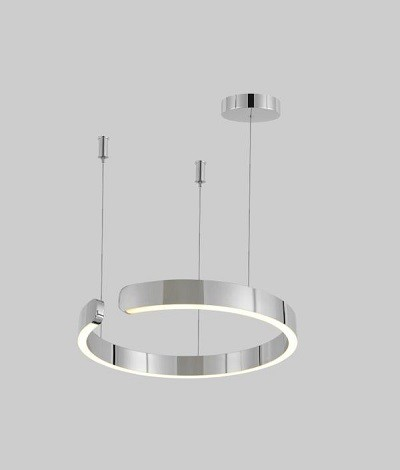 Pendant Lamp Stainless Steel Chrome Diameter 80cm 3+MU7424-800-CH