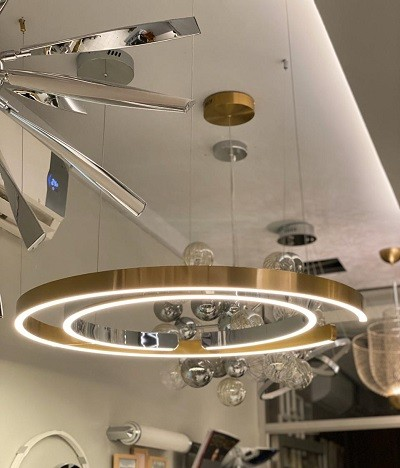 Pendant Lamp Stainless Steel Gold Diameter 80cm 3+MU7424-800-GD