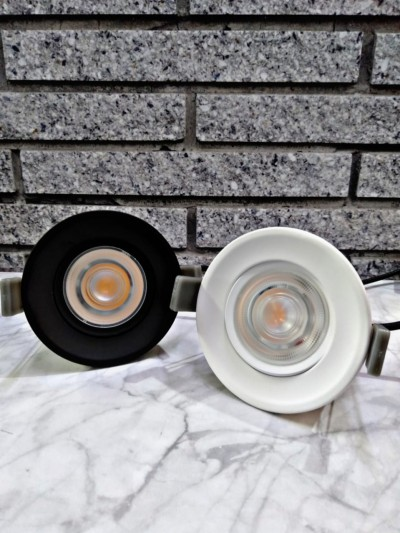DOWNLIGHT LED 8 WATT 3+ACD12-092430-WH/BK